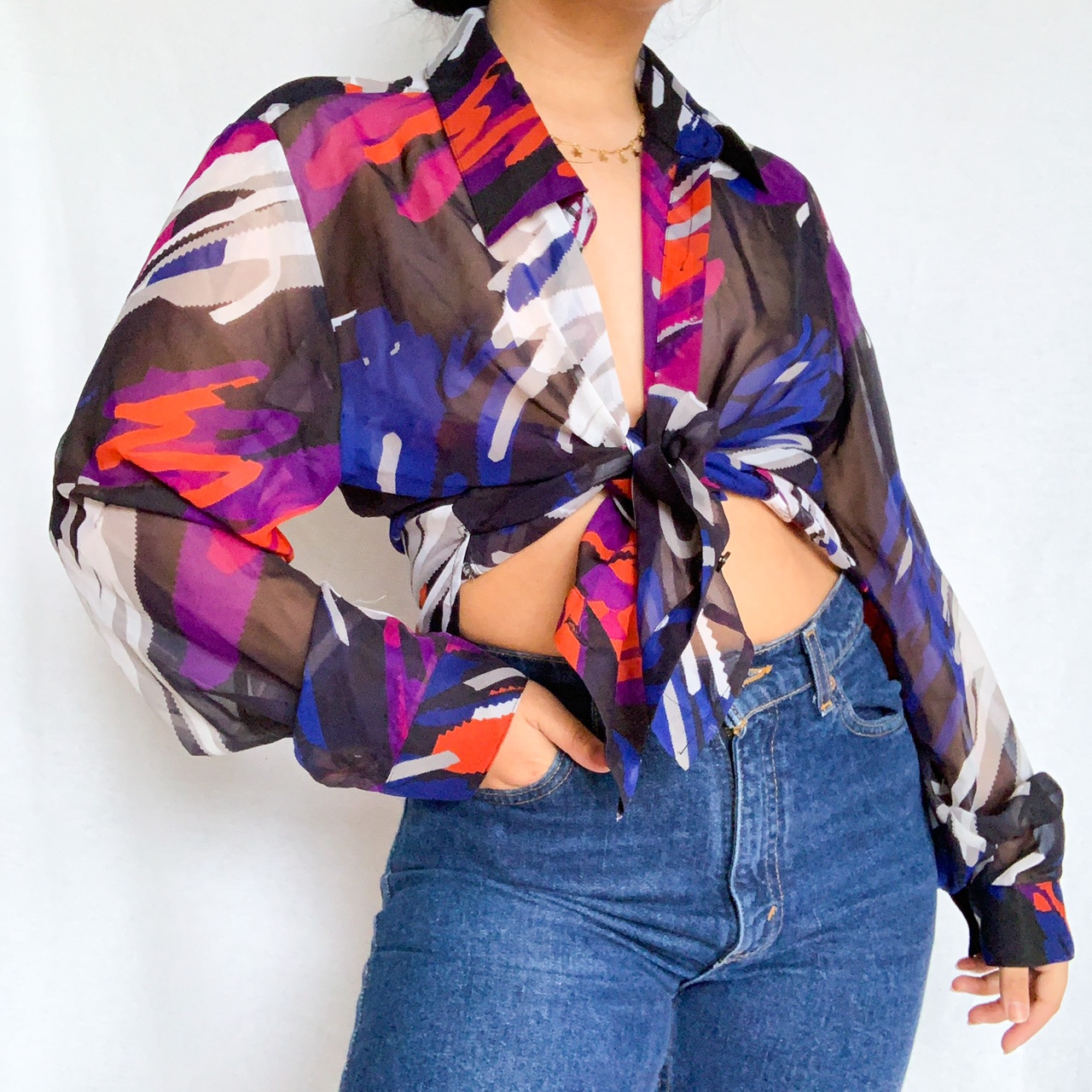💜ABSTRACT BUTTON DOWN💜