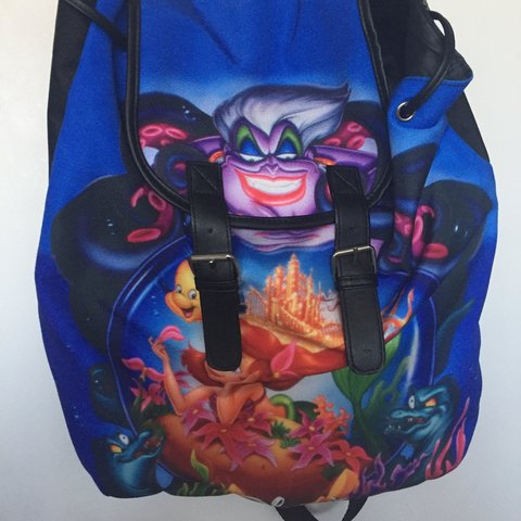 bf80c9eee652 Hella rad Hot Topic Little Mermaid Disney backpack. Has so - Depop