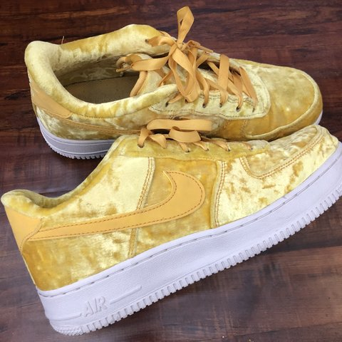 quality design 2c979 9423e  teeiiggaan. 9 months ago. Gilbert, United States. Nike Air Force 1 LV8  Velvet Sneakers - Mineral Gold (Yellow)