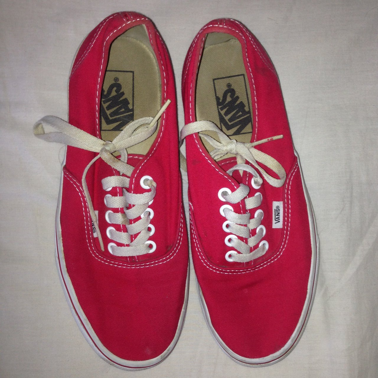 43165a3fa655 Women s 6 and men s 7 light red Vans