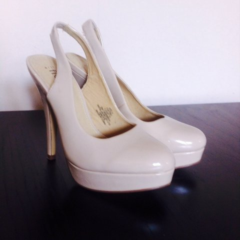 fa6a063ded Pale nude sling back heels. These are so classy and very Von - Depop