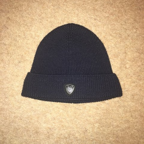 EA7 Beanie Hat Colour  Blue Size One Size RRP £50 Only - Depop e3124749592