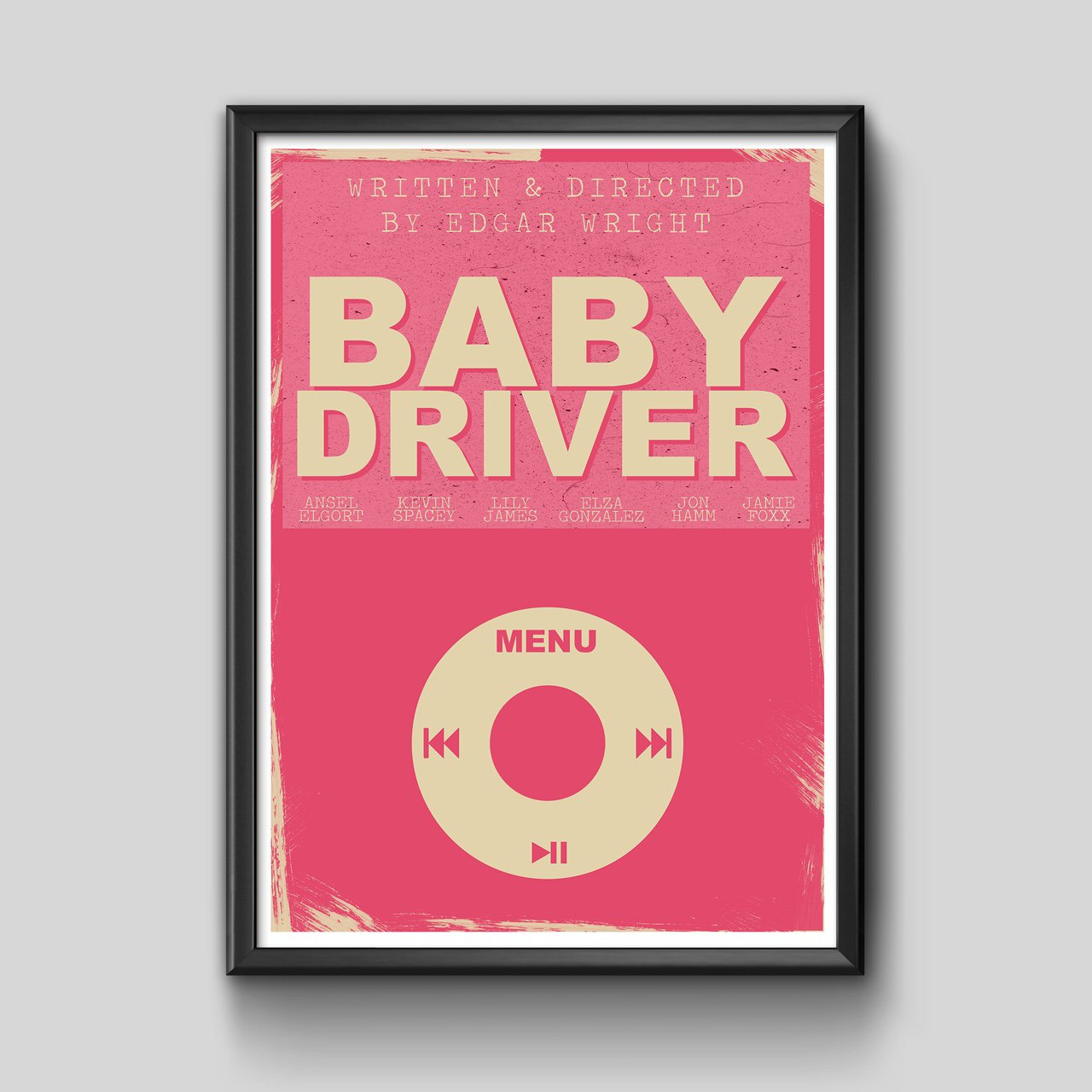 A3 PRINT Baby Driver high quality movie wall art Depop