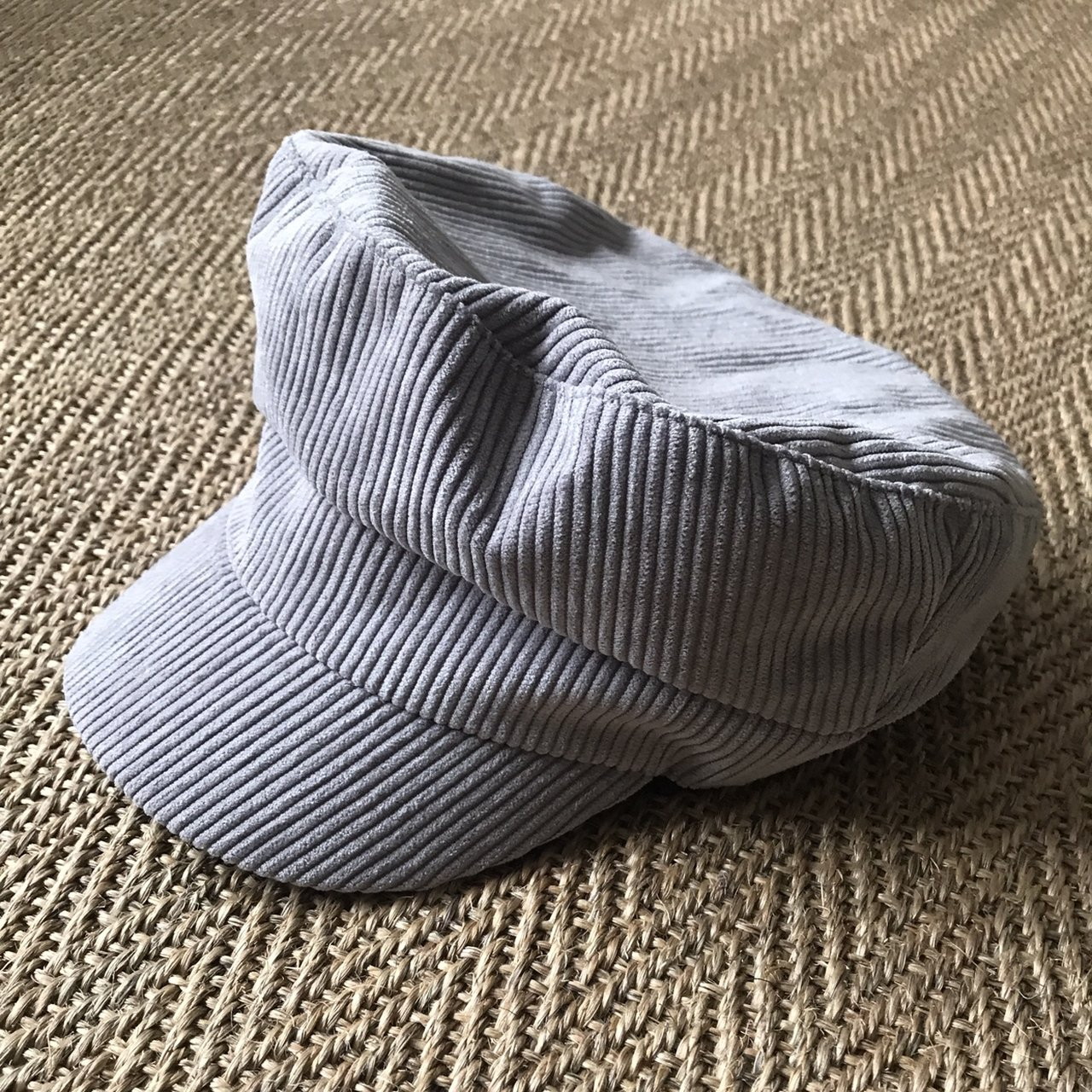 42826753e5b TopShop grey cord baker boy hat. 87% polyester 13% Price new - Depop