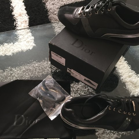 Brand new in box Rare Dior Homme SS 2015 leather sneakers in - Depop 52892d742bc