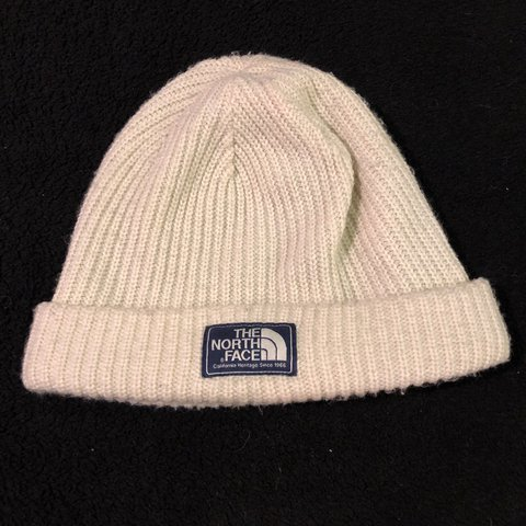 100ed43c794 White North Face Beanie! The perfect hat for keeping your it - Depop