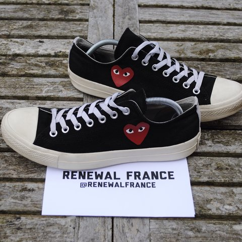 afcdafb2f711 Converse comme des garcons cdg Black