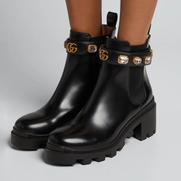 AAA Gucci snake boots Black winter