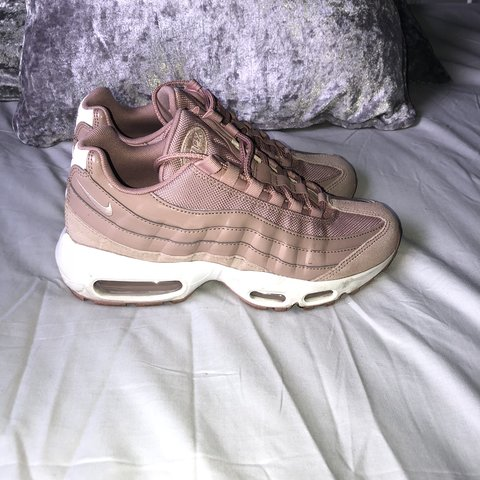 d27e6ad5e6 ... 6 NEVER WORN Nike AirMax 95 Baby pink nude white NEW - Depop. nike air  max 95 baby pink Nike air max 95 baby pink. Size 4.5 (