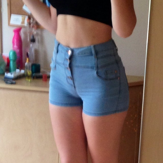 Size 12 Primark high waist shorts. Stretchy material so they're ...