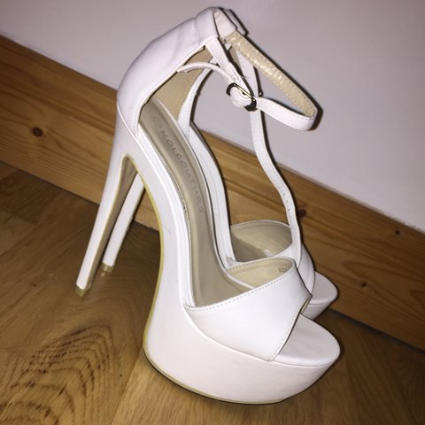 c4389f8cd5f0 White koi couture heels from Korkys