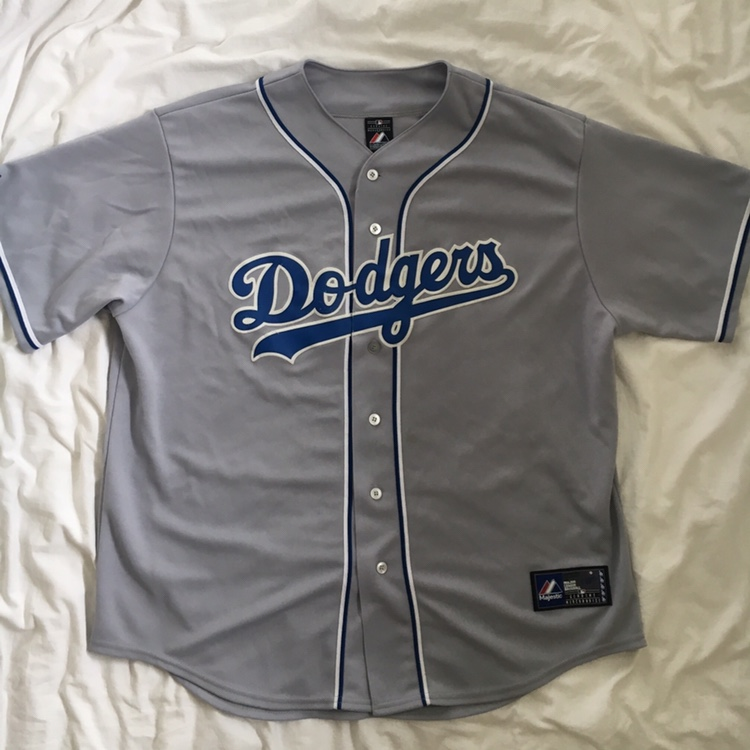 new product 80036 55025 Majestic Authentic MLB Los Angeles Dodgers Jersey -... - Depop