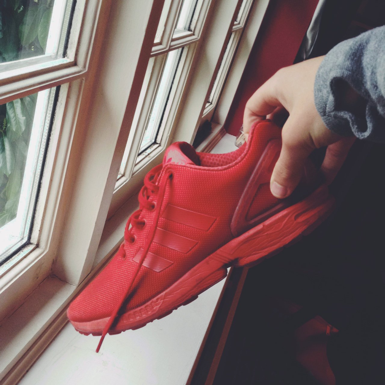 3c1f3bc884d Adidas ZX flux red . Size 9 UK men s . Highly wanted pair