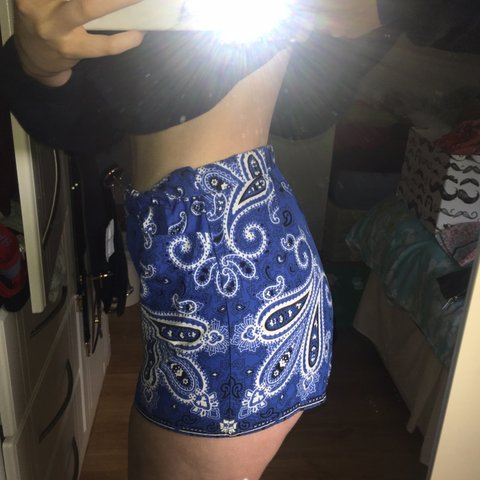 ae3e33271c Zara royal blue authentic fabric shorts with small ribbon to - Depop
