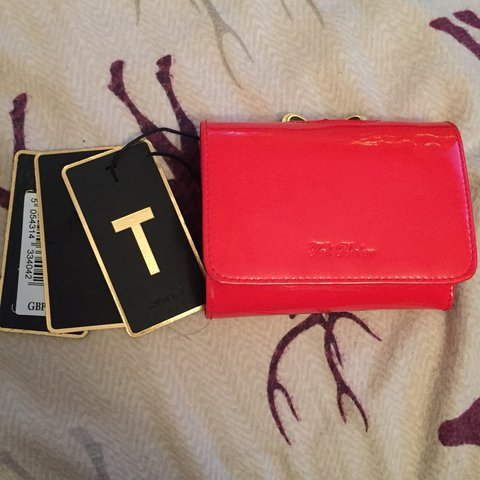 7c46b2785e5 Genuine Ted Baker small red purse, in brilliant condition it - Depop