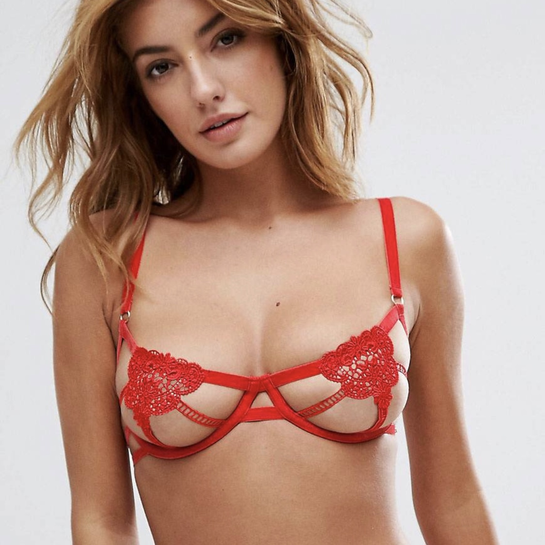 576da003597e8 REDUCED    Sold out Asos red Bluebella red bra size 30c x - Depop