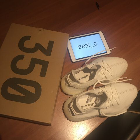 e5f25876f Adidas Yeezy Boost V2 cream white. Size Uk 10.5. Condition  - Depop