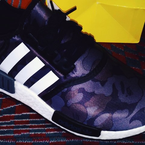 b30234538659a Bape NMD 1 16 of this colourway in the UK - supreme north - Depop