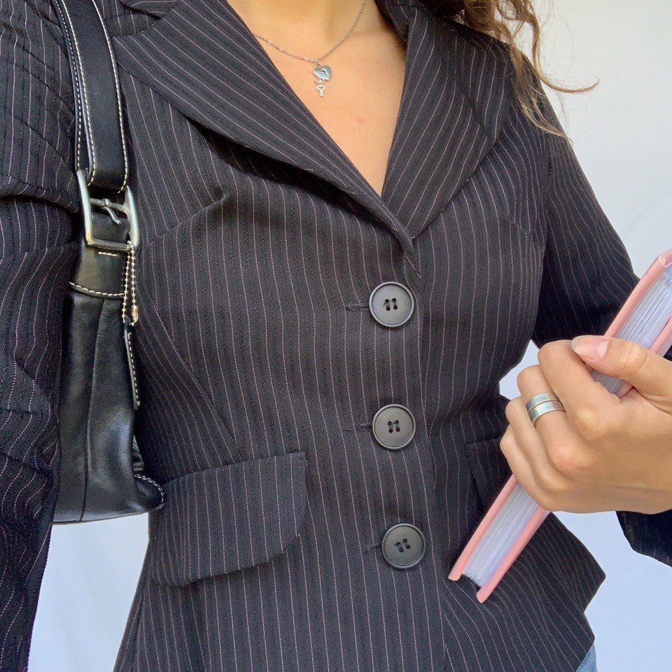 The cutest vintage y2k pinstripe blazer ever