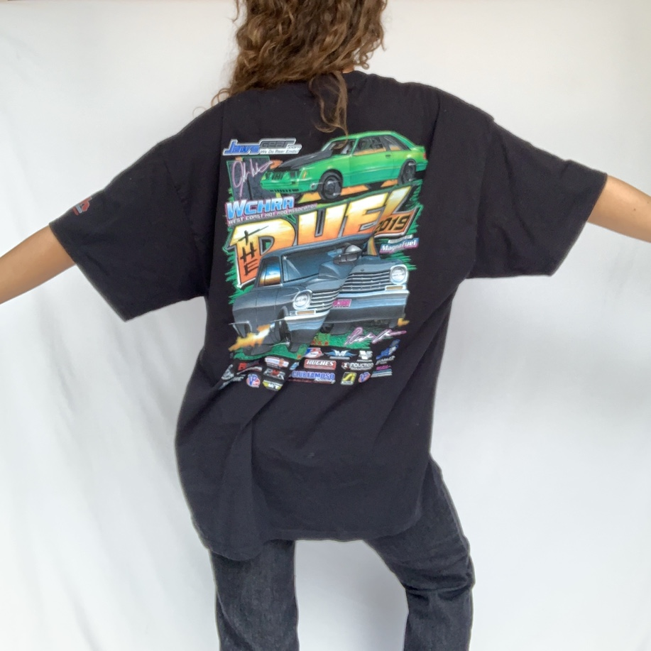 Graphic car tee! In perfect condition, for the duel