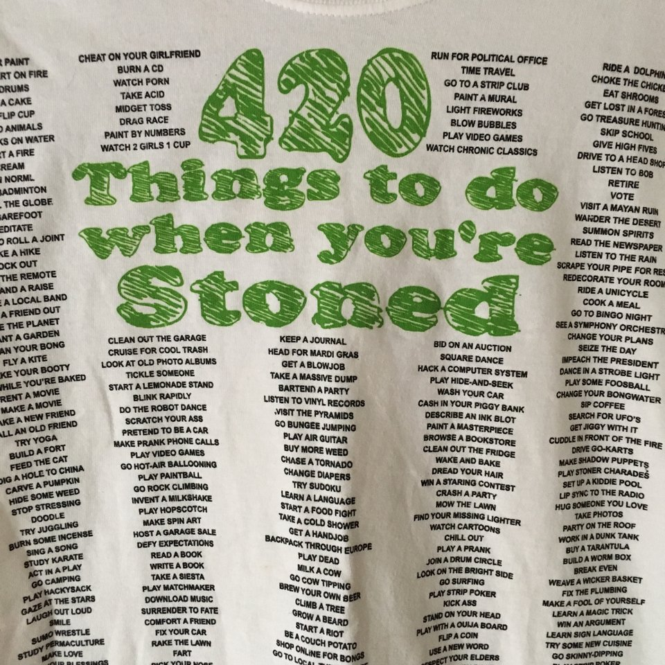 STONER SHIRT 🌿 A list of 420 things to do when    - Depop