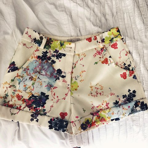 ea919f68f Ted Baker floral shorts size one Equivalent to size 8 or 10 - Depop