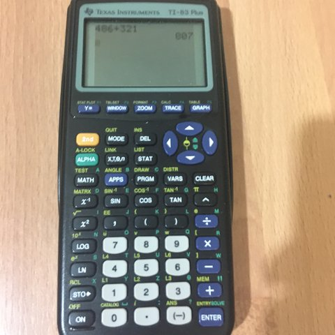TI 83 Plus Graphing Calculator Works 0