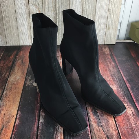 c38c47cfe684 Stuart Weitzman glove booties with square toe. These boots a - Depop