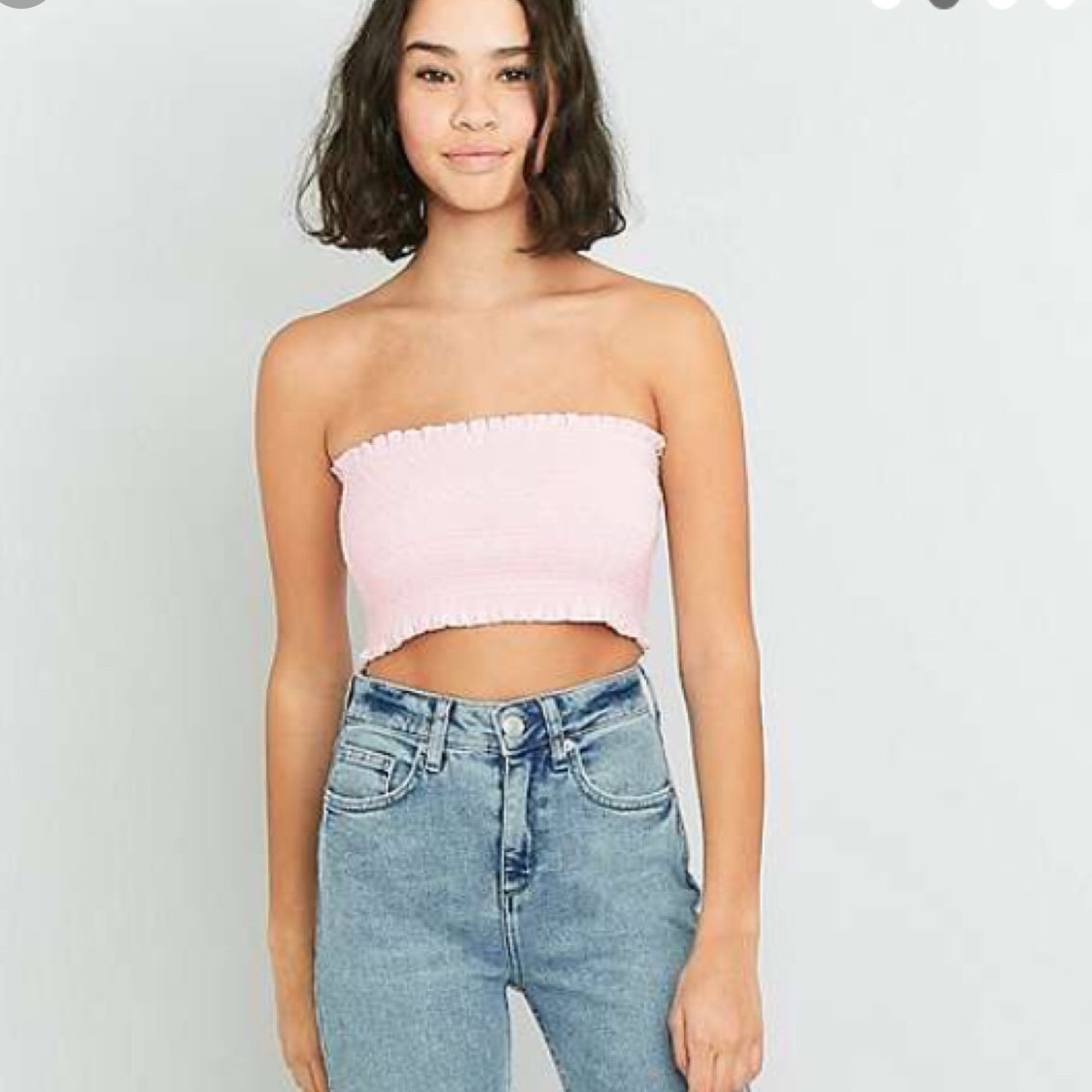 URBAN OUTFITTERS BOOB TUBE BANDEAU STRAPLESS BLACK CROP TOP SIZE M//L BNWOT