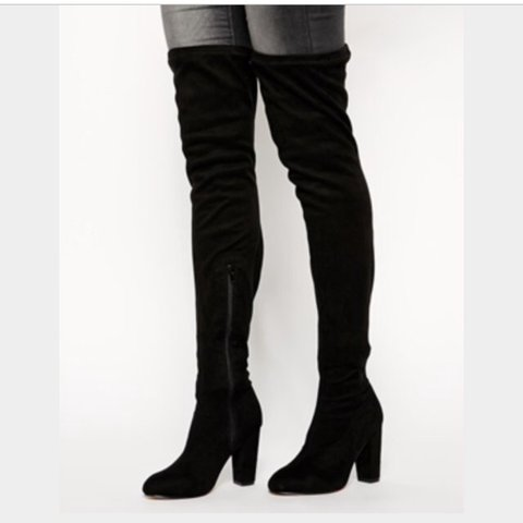 3634a656b ASOS Kiss of Life over the knee thigh boots. Only worn SOLD - Depop