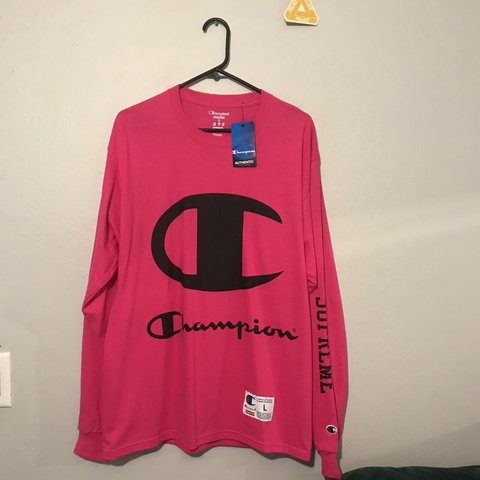 8c2445b0938e @allgoodpap. 2 years ago. Los Angeles, United States. Supreme x champion  long sleeve in magenta brand new never worn with tags ...