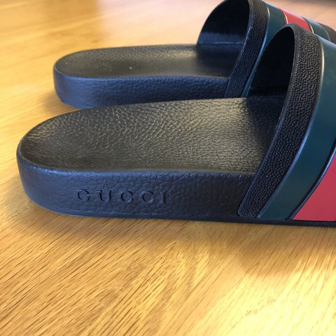 9139c1a92264 Size 8 Gucci Slides Bought on eBay for £80 last year and – - Depop