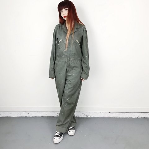 8a938955001 1950 s 50 s vintage heavily worn in vintage coveralls work a - Depop