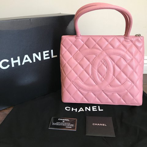 93f36e1ce89608 Beautiful Authentic CHANEL Medallion in Pink. Like new. tote - Depop