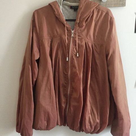 b38b38a2523 Topshop Size 10 pearlescent pink women s wind jacket. Really - Depop