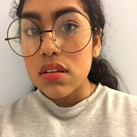 03953512d7 Large round glasses ! I ve gotten a lot of compliments every - Depop