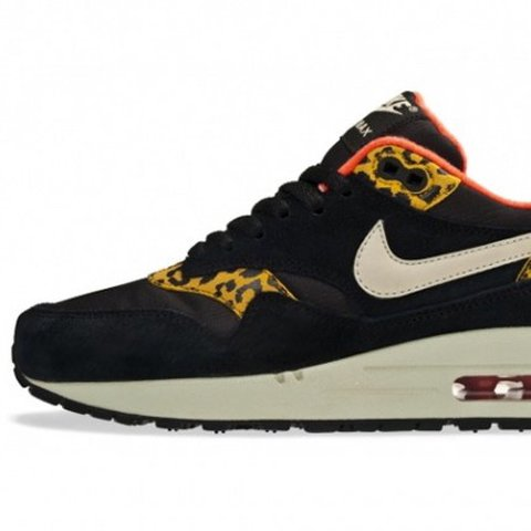 352bb3ef4c @niamh_parsons. last year. Tenby, United Kingdom. Nike air max 1 shoes/  trainers black leopard limited edition red inside// have worn them a few  times ...