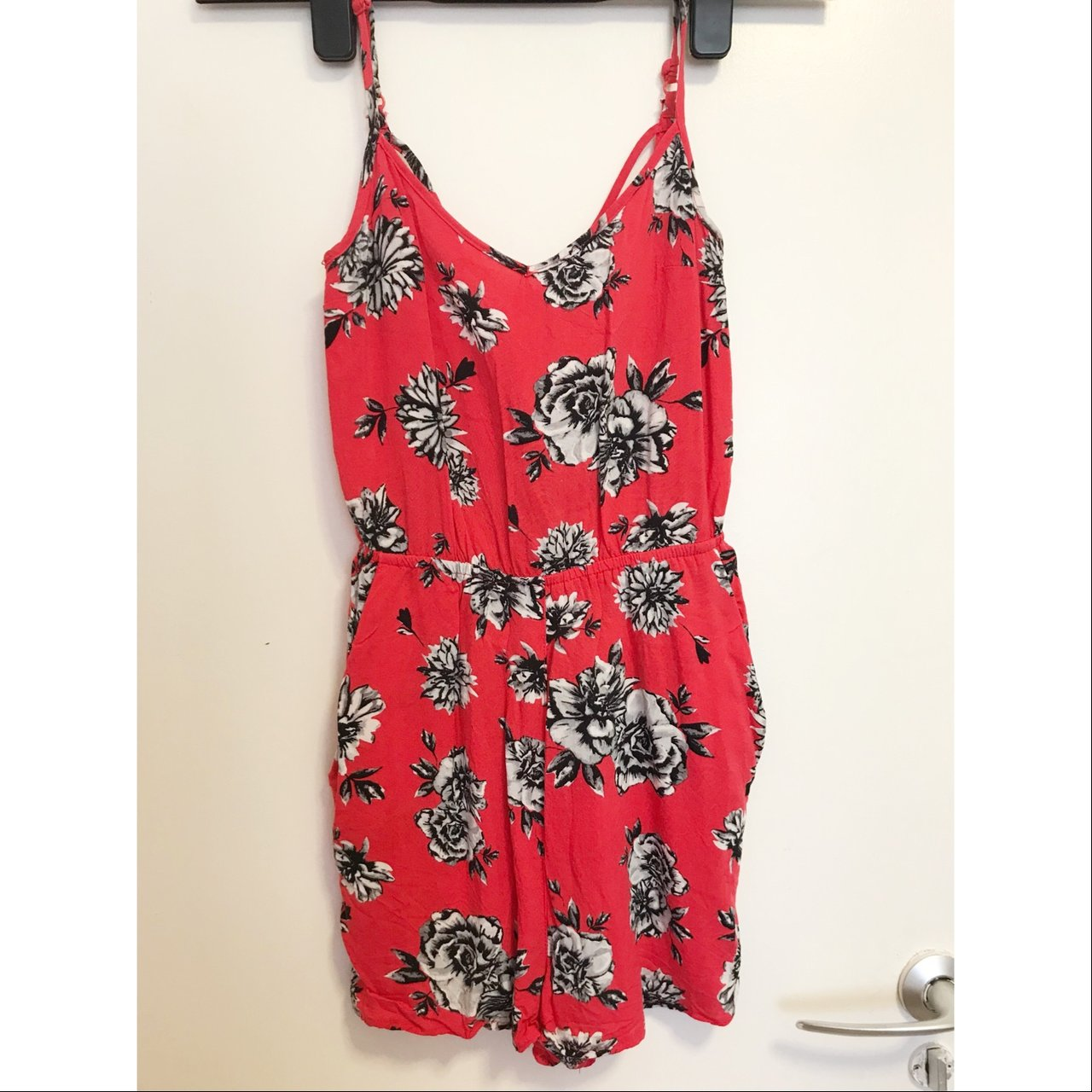 10941b23e7d Gorgeous red flowery playsuit from H M