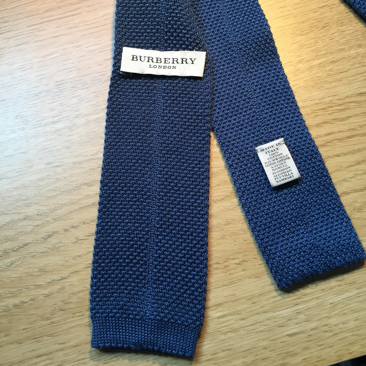 dd6b68817 New Burberry Knitted Blue Tie, bought from Mr Porter... - Depop