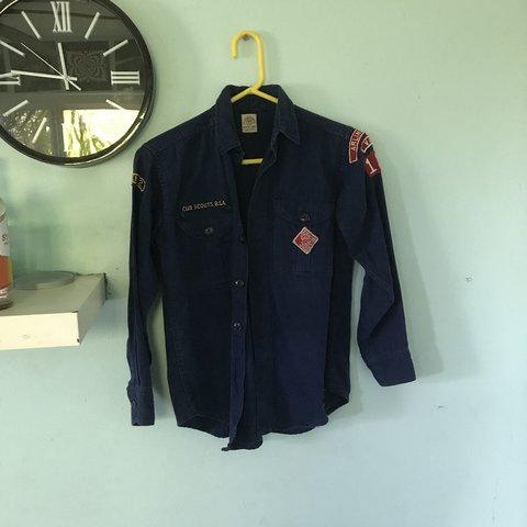 cee7acf3 @crellyn. 6 months ago. Orange, United States. cub scouts button down shirt  ! very cool vintage ...