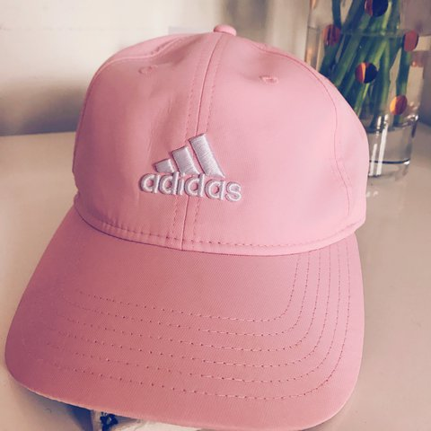 28f76ad932898 Adidas pink baseball cap with logo. Never worn