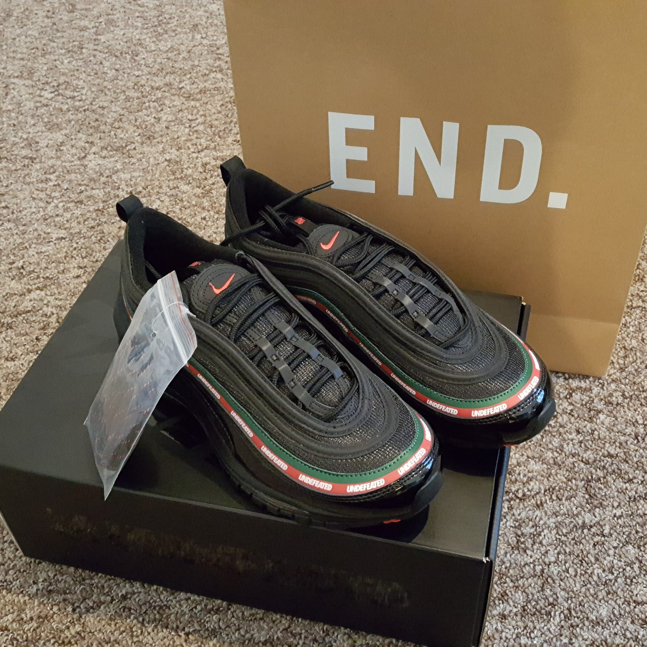 Nike Air Max 97 Undefeated black gucci Depop