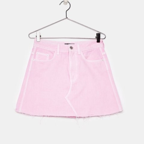 2e6609ef65b7 @rachael166. 11 months ago. Liverpool, United Kingdom. Brand new pink denim  skirt from Bershka never worn with tags still available to buy ...