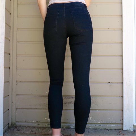 7054b85f3e9c7a @hannahrodo. 3 years ago. Jackson, WY, USA. Black mid rise jegging from Cotton  On. ...