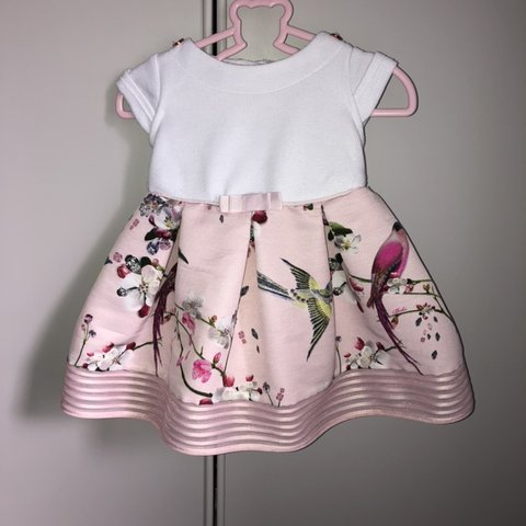 f9a3adfa4 Ted baker baby girl 3-6m dress Baby girl dress Baby but in a - Depop