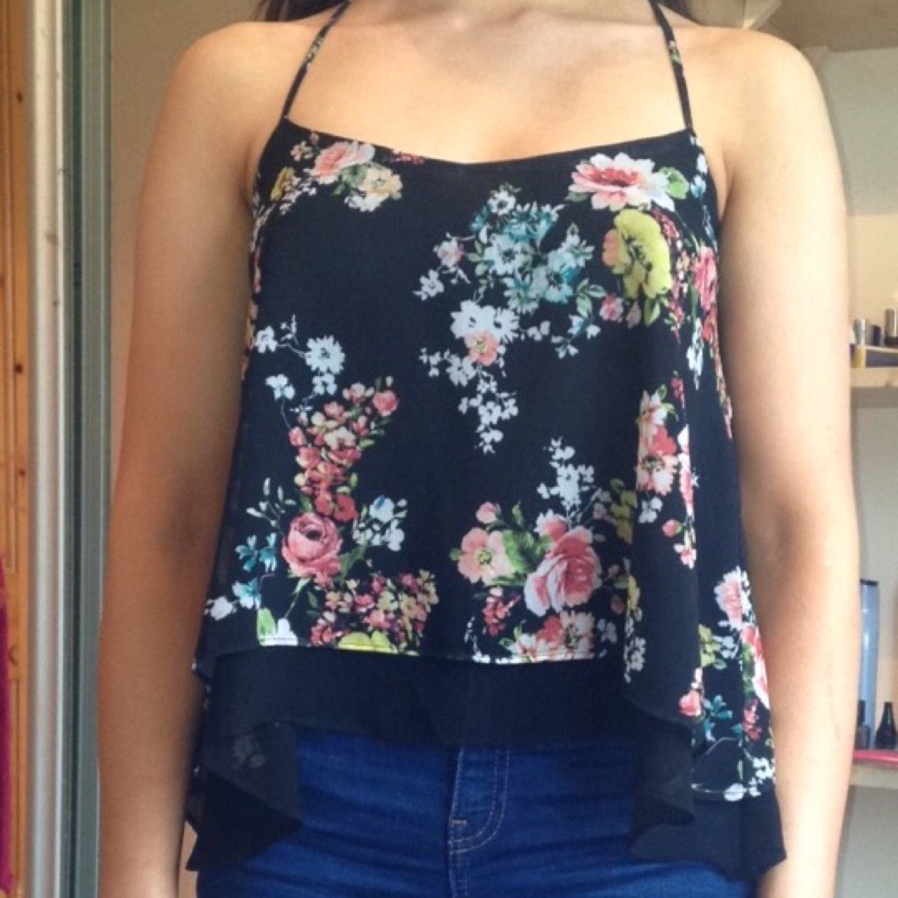 14be3da37e Selling this floral top from Bershka. Very good condition it - Depop