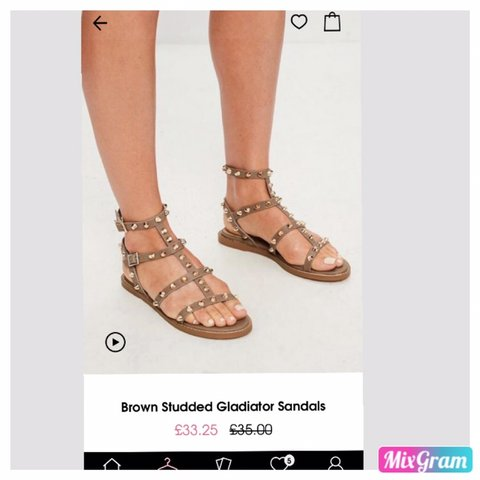 359454c6eea Brand new missguided brown gladiator sandles