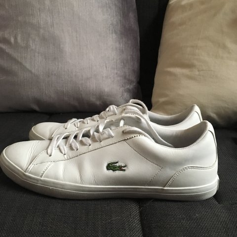 368639cbc5a1 GREAT CONDITION Lacoste Mens Leather Riberac Canvas Trainers - Depop