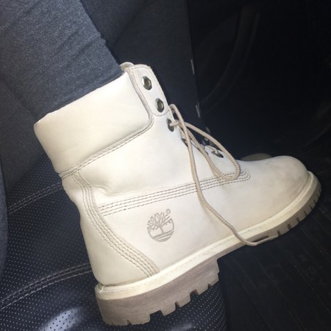 Perfect Christmas Present Rare Cream Timberlands As Depop
