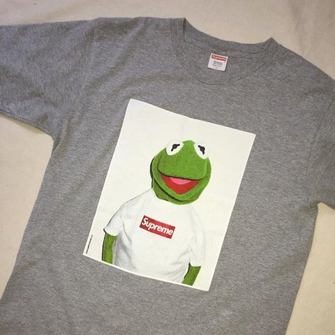 d6655cf66 Supreme Kermit tee grey size L. VNDS. Bin 270. Open to and - Depop